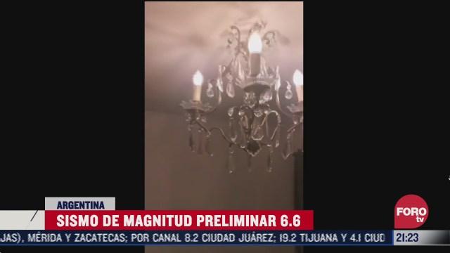 se registra sismo magnitud 6 5 en argentina