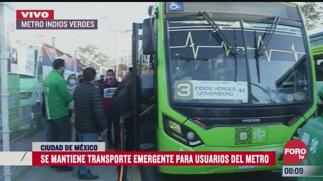 servicio emergente de transporte continua en la linea 3 del metro cdmx