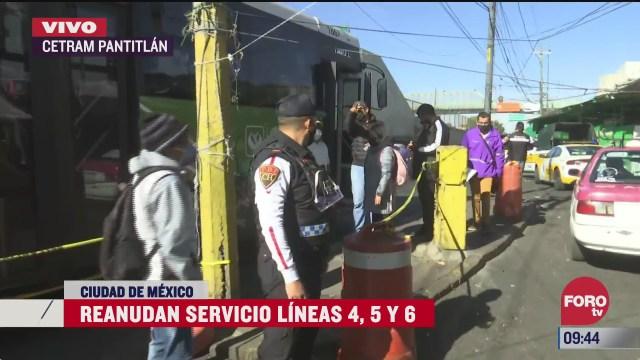 servicio rtp continua ante la reapertura de la linea 5 del metro cdmx