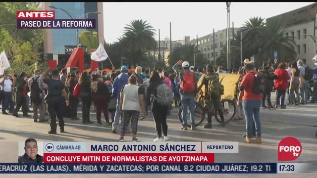 termina mitin por los 43 normalistas de ayotzinapa