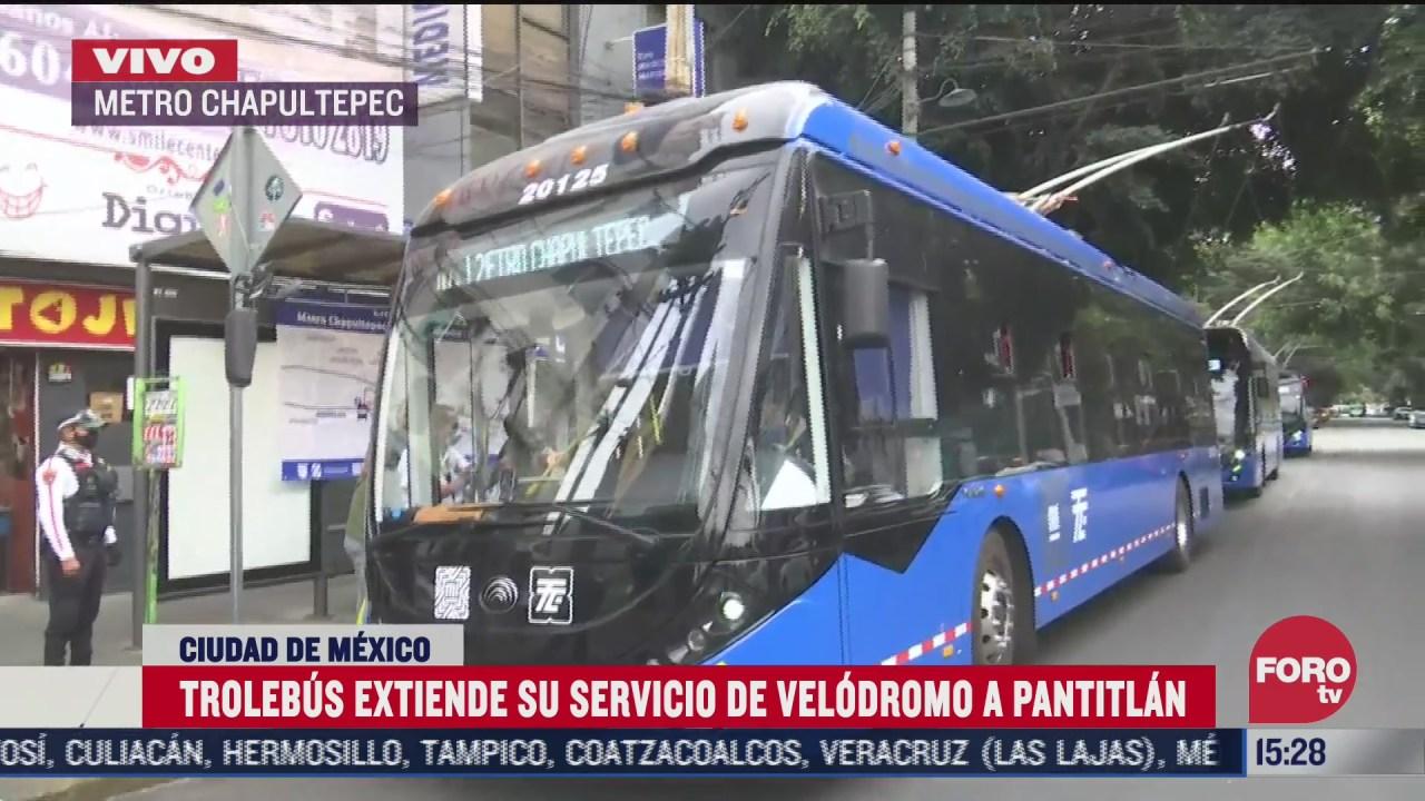 trolebus brindara servicio de metro chapultepec a pantitlan tras incendio en instalaciones del metro