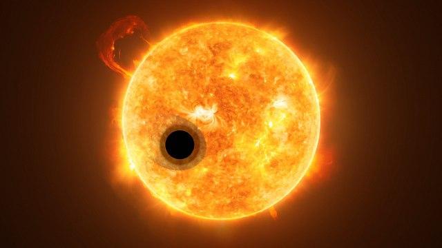 WASP-107b Exoplaneta Más GrandeJúpiter Imagen