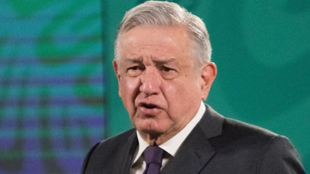 Andrés Manuel López Obrador en la conferencia de prensa en el salón Tesorería de Palacio Nacional