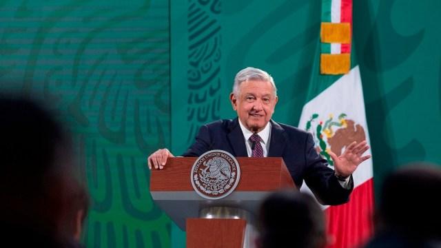 Andrés Manuel López Obrador, en Palacio Nacional, 24 de febrero de 2021 (EFE)