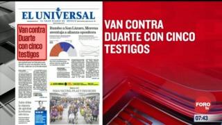 analisis de las portadas nacionales e internacionales del 23 de febrero del