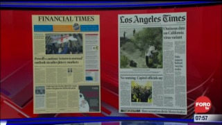 analisis de las portadas nacionales e internacionales del 24 de febrero del