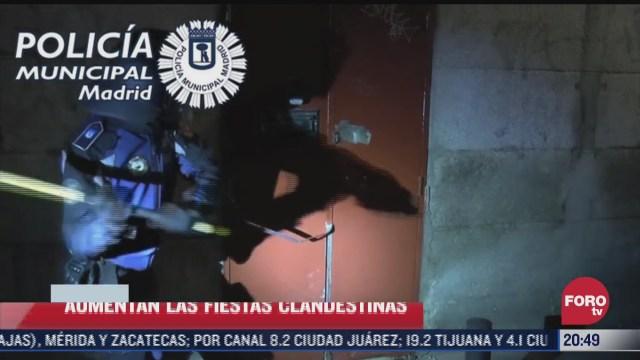aumentan las fiestas clandestinas en espana