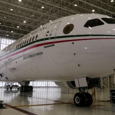 Fotografía del avión presidencial. (Foto: Cuartoscuro)