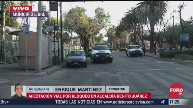 bloqueo en municipio libre causa afectacion vial