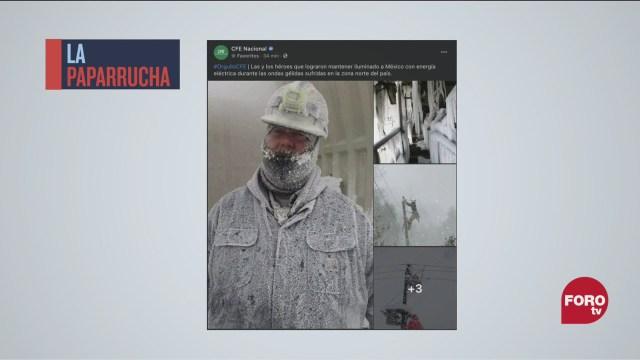 cfe reconoce a trabajadores ante apagones con imagenes falsas la paparrucha del dia