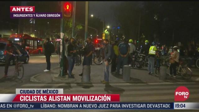 ciclistas en cdmx alistan movilizacion en insurgentes y alvaro obregon