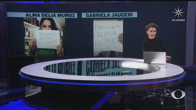 cientos de mujeres y activistas protestan en redes sociales contra salgado macedonio