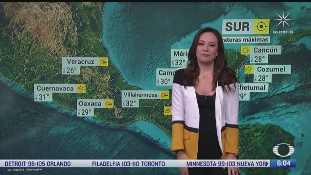 Frente frío 37 provocará lluvias fuertes en Veracruz, Oaxaca, Chiapas y Tabasco