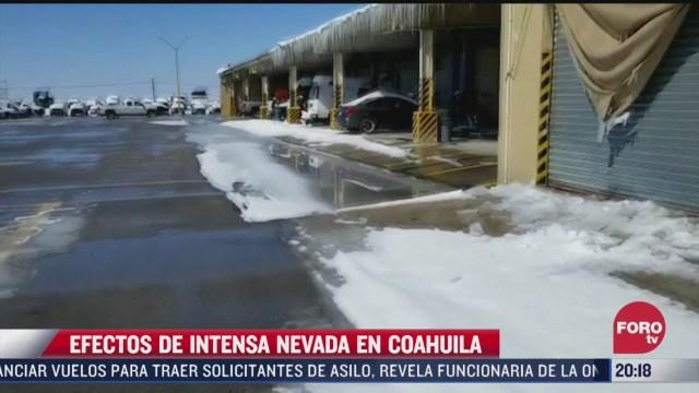 efectos de la intensa nevada en coahuila
