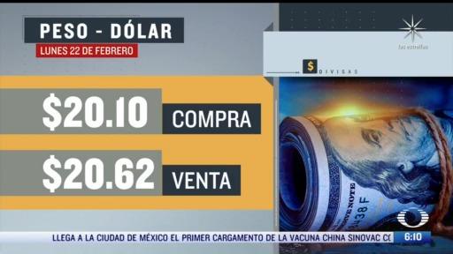 el dolar se vendio en 20 62 en la cdmx