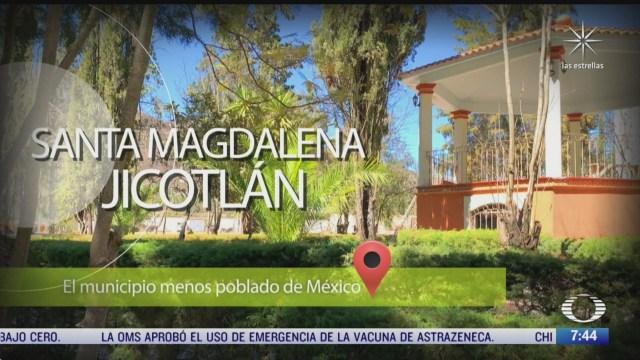el municipio menos poblado de mexico