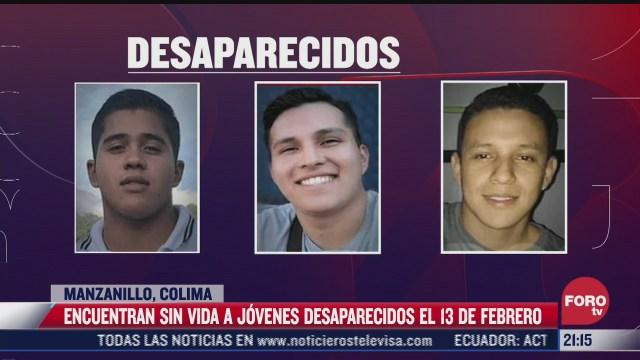 encuentran sin vida a tres jovenes desaparecidos en manzanillo