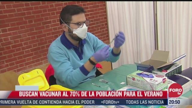 espana busca vacunar al 70 de la poblacion en el verano