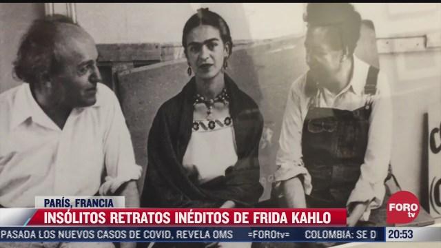 exhiben retratos ineditos de la artista mexicana frida kahlo en paris