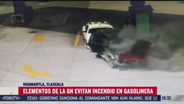 guardia nacional evita incendio en gasolineria de tlaxcala
