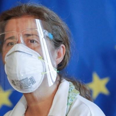 La jefa de la delegación de la Unión Europea en Caracas, Isabel Brilhante Pedrosa