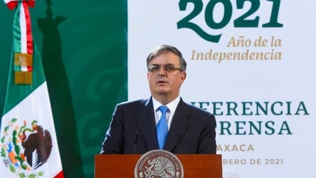El secretario de Relaciones Exteriores de México, Marcelo Ebrard, en Oaxaca, México (Cuartoscuro)