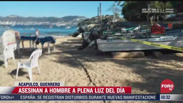 matan a un hombre en playa de acapulco guerrero