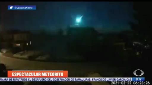 meteorito ilumina el cielo de canada