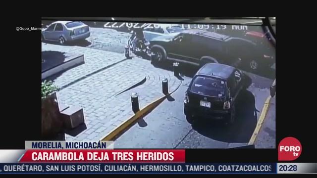 motociclista es arrollado por camioneta en morelia michoacan