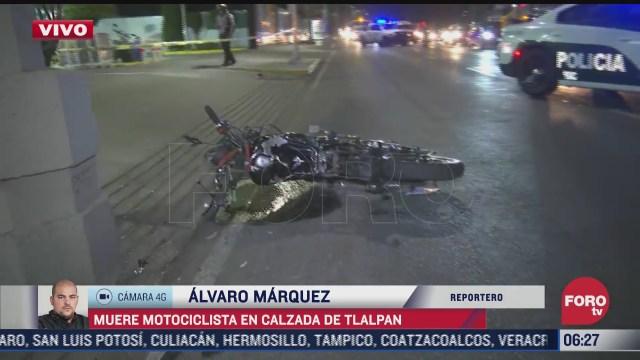 motociclistas pierde la vida en chocar sobre calzada de tlalpan cdmx