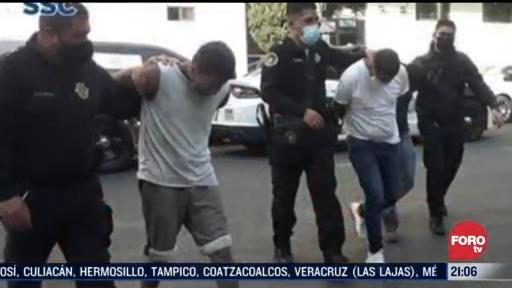 ocho detenidos con 200 dosis de droga en cdmx
