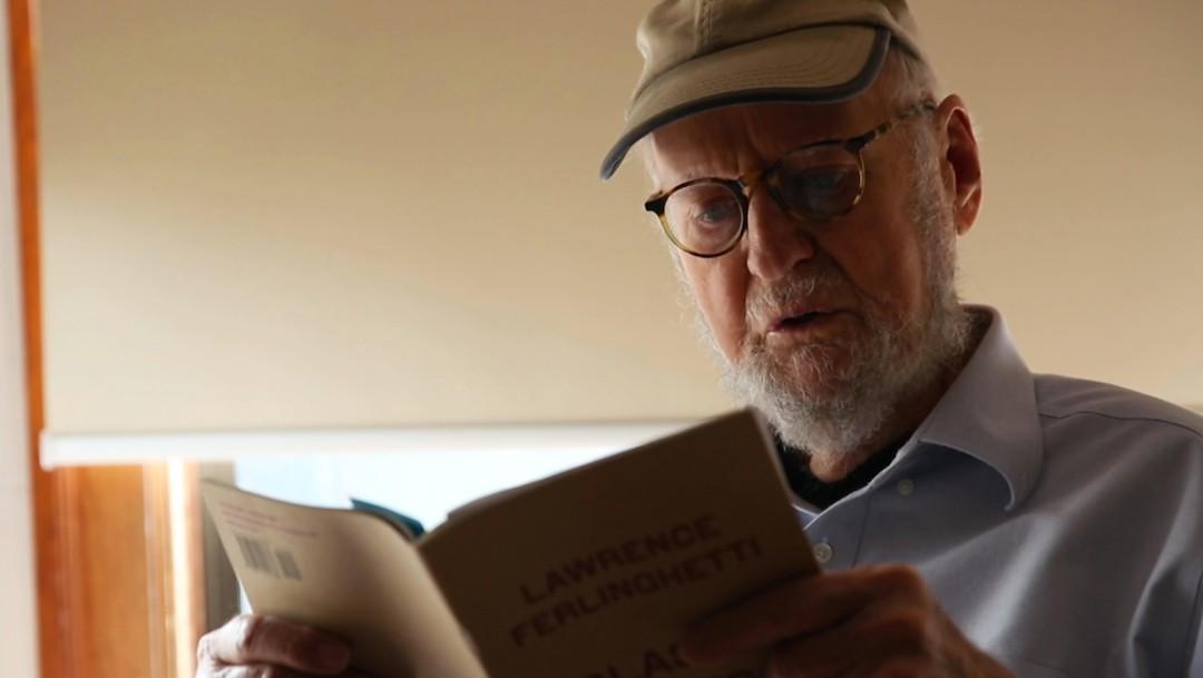 El poeta Lawrence Ferlinghetti (Twitter: @KQED)