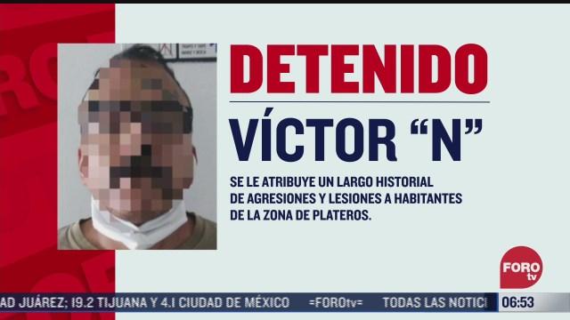 policias de la ciudad de mexico detienen a lord banquetas