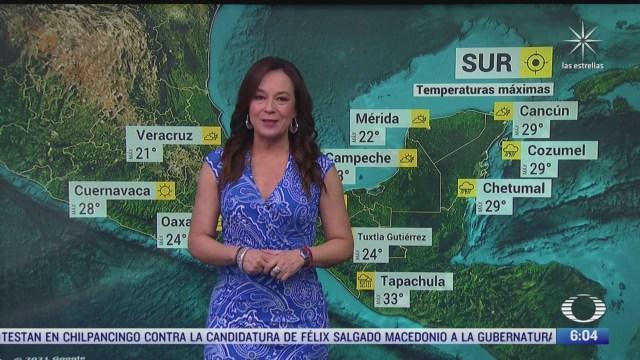 preven bajas temperaturas en norte centro oriente y sureste de mexico