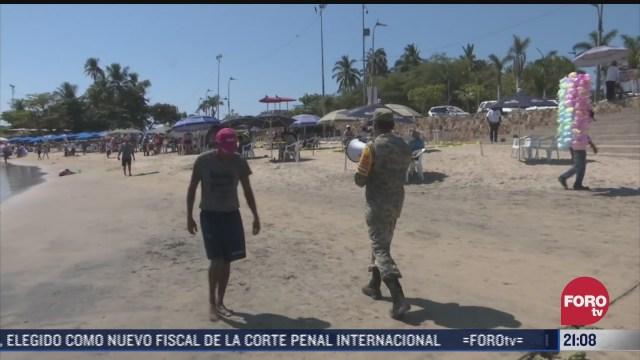 refuerzan operativos para evitar aglomeraciones de turistas en guerrero