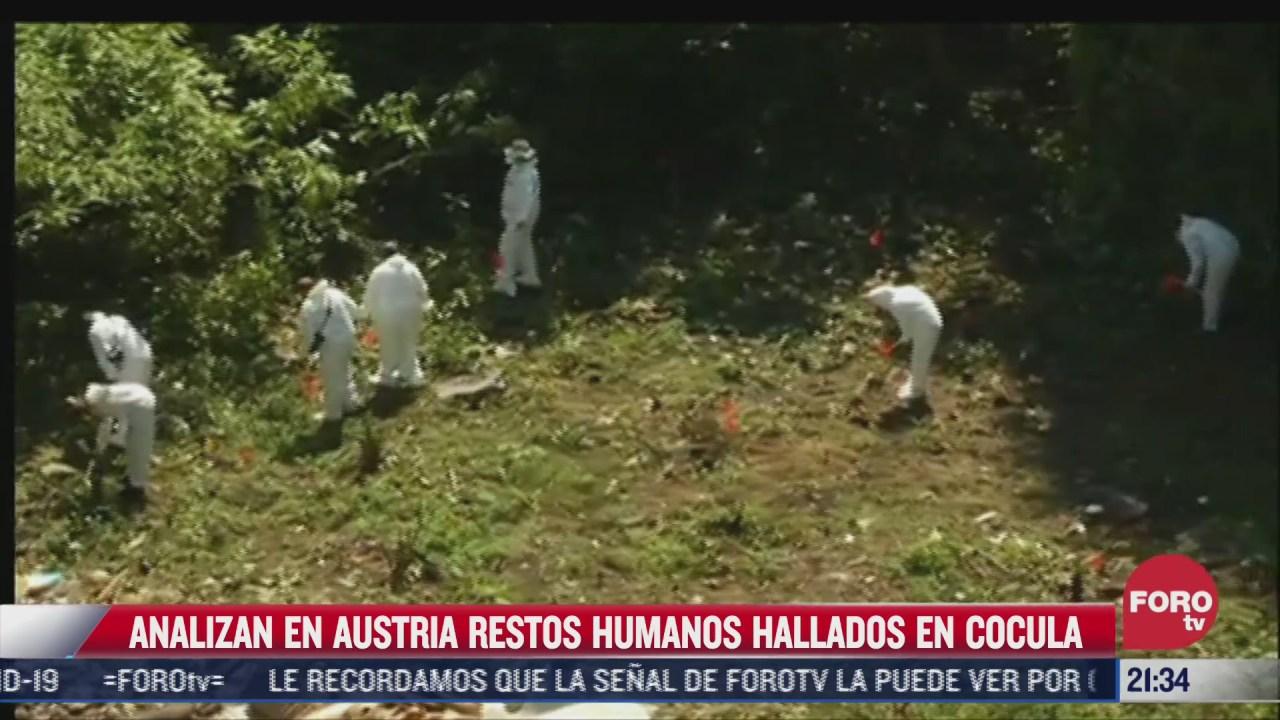 restos humanos hallados en cocula seran analizados en austria