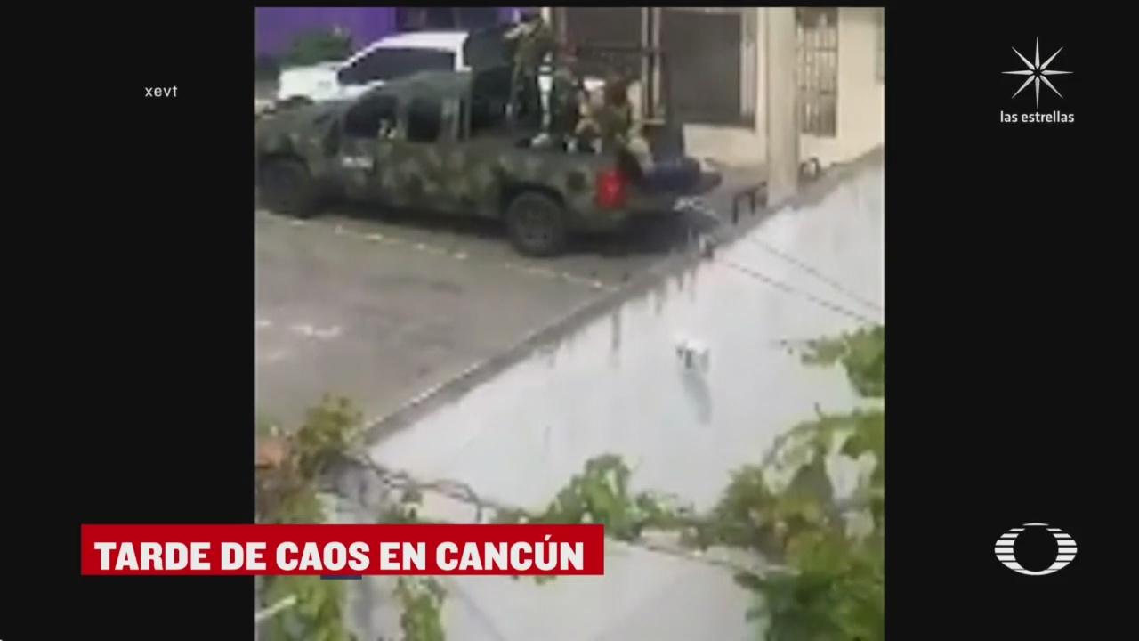 balacera en Cancún tras liberar a víctima de secuestro