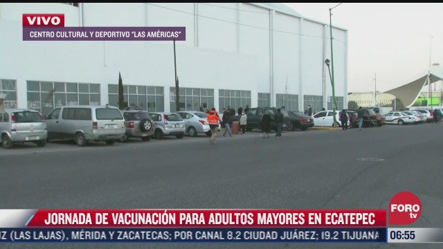 se observa mas orden en jornada de vacunacion en ecatepec edomex