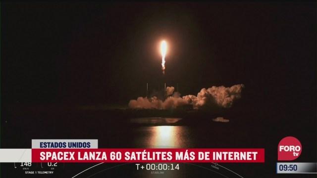 spacex lanza 60 satelites mas de internet