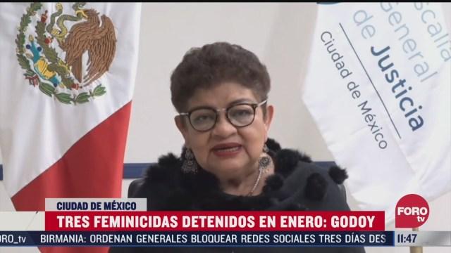 tres feminicidas detenidos en enero en cdmx informa ernestina godoy