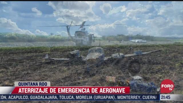 aeronave aterriza de emergencia en comunidad cercana a chetumal