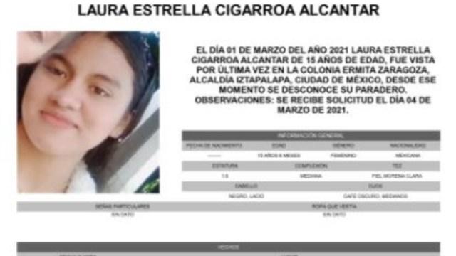 Activan Alerta Amber para localizar a Laura Estrella Cigarroa Alcantar