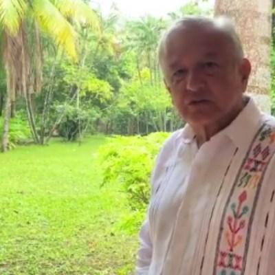AMLO agradece apoyo de las mujeres en un video desde Palenque