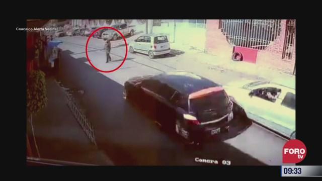 asi atropella un conductor a un hombre en coacalco