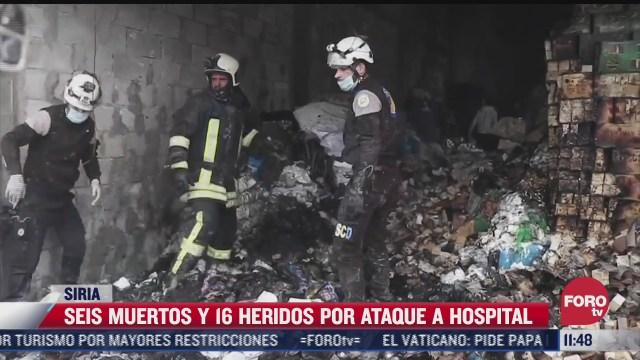 ataque con proyectiles a un hospital en siria deja 6 muertos y 16 heridos