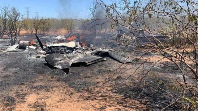Avioneta desplomada en Sonora (Twitter: @michelleriveraa)