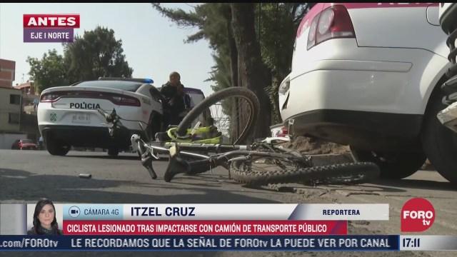 camion de transporte publico atropella a ciclista en eje 1 norte