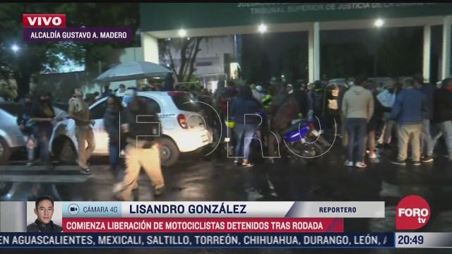 Liberación de motociclistas detenidos en Tepito, CDMX