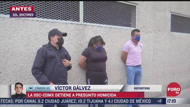 detienen en la alcaldia venustiano carranza a presunto homicida