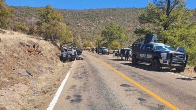 Emboscada deja cuatro policías muertos y siete heridos en Madera, Chihuahua